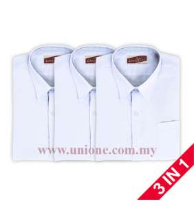 3 in 1 ! KOSHIBO WHITE S.S SHIRT (UK3311)