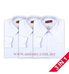 3 in 1 ! KOSHIBO WHITE LONG SLEEVE SHIRT (UK3312)